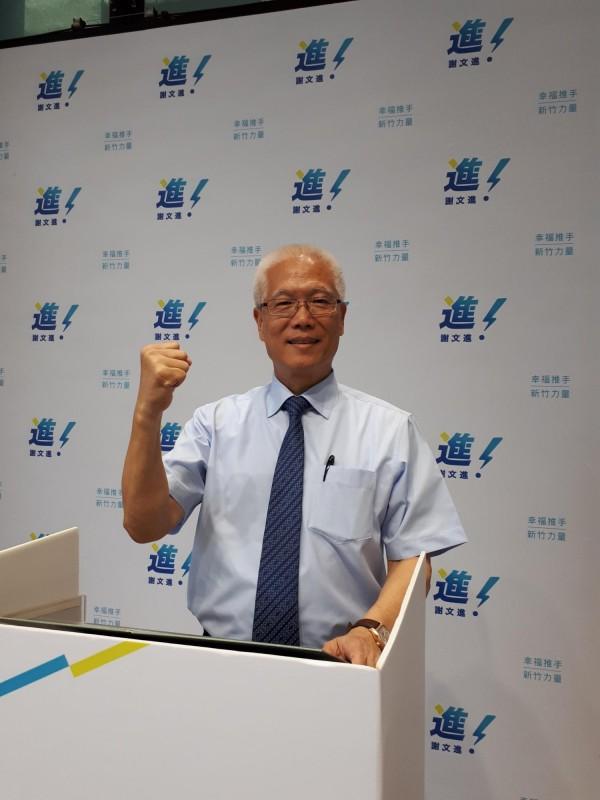 新竹市議會議長謝文進11日將宣布參選新竹市長。(記者洪美秀攝)