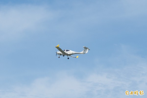 安捷飛行訓練中心以台東豐年機場為訓練基地。(記者王秀亭攝)