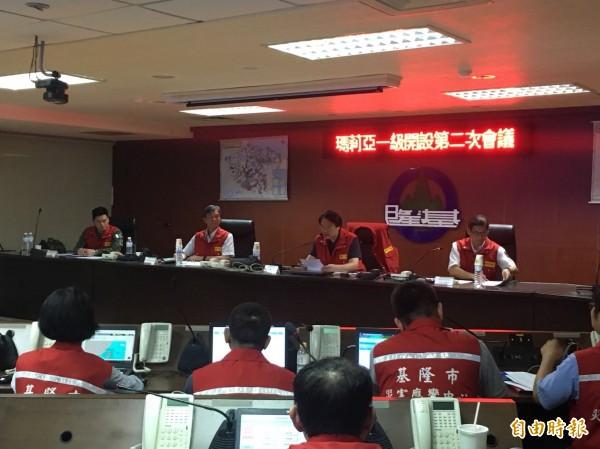 基隆市長林右昌認為,事後來看,下午4點停班停課是正確決定。(記者吳昇儒攝)