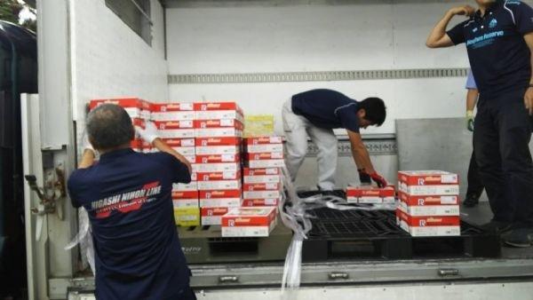 日本群馬縣水上町今年訂台南愛文芒果400盒。(台南市政府提供)