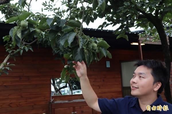 台中市公老坪產業發展協會理事長陸冠全,以年輕人的創新點翻轉農村。(記者歐素美攝)