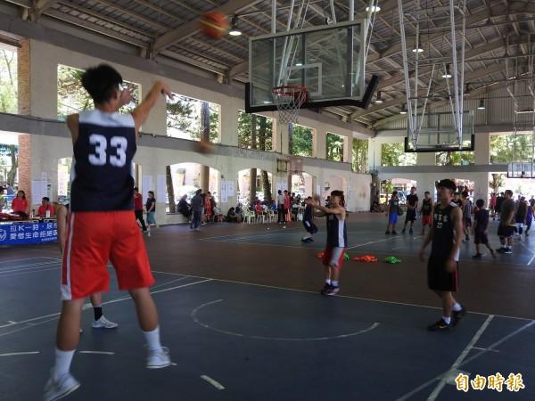 台灣之心籃球錦標賽有5人制比賽及3對3鬥牛賽。(記者佟振國攝)