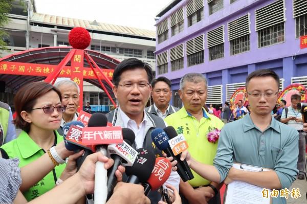 媒體民調對手贏6%,台中市長林佳龍今強調,選舉結果才是真正的民調。(記者歐素美攝)