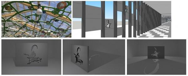 商圈外牆、天花板將有融入在地特色的設計。(記者邱芷柔翻攝)