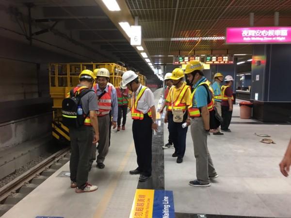 交通部鐵道局、台鐵局7月17日至19日針對高雄地下化進行聯合檢查。(圖:交通部提供)