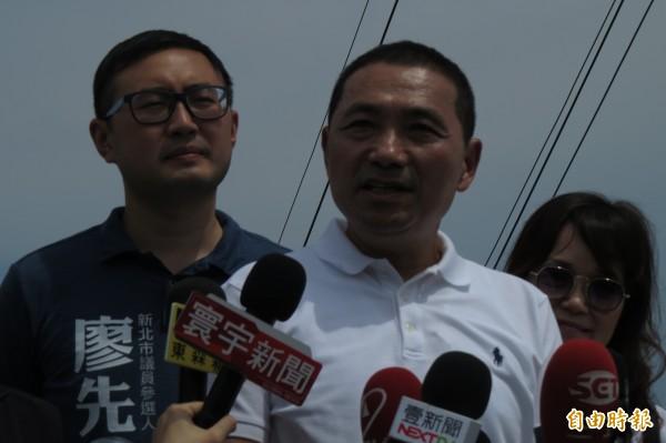 針對重啟核四的看法,國民黨新北市長參選人侯友宜表示,沒能力處理核廢料,就不要想要核電。(記者俞肇福攝)