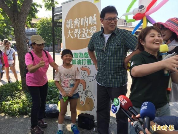 呂秀蓮宣布不選台北市長,姚文智今天說,感謝她成全大局,呂有許多睿智見解,希望未來可以盡快拜會她,向她請益,未來也會參酌,納入都市願景規畫。(記者周彥妤攝)