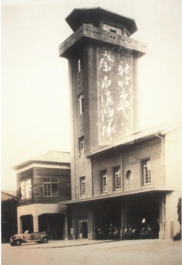 新竹市消防博物館老照片。(市府提供)