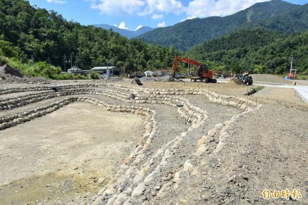 清水地熱園區正進行環境改善工程,工程3月底動工,預計11月中旬底完工。(記者張議晨攝)