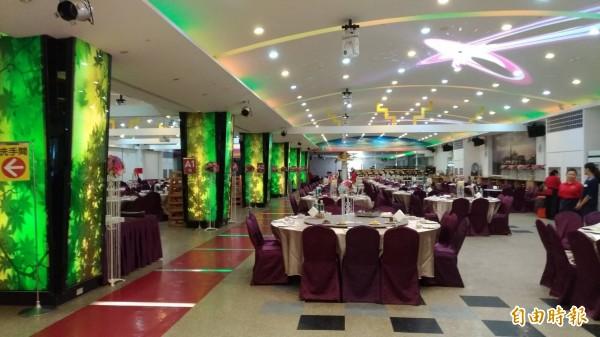 金樽會館礁溪店,餐廳桌數約80桌,業者已在今天拆除。(資料照,記者張議晨攝)