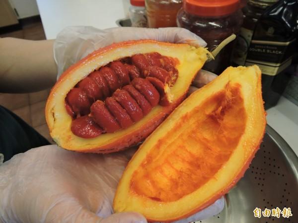 木虌果種子外層的假種皮營養成分最高。(記者張存薇攝)