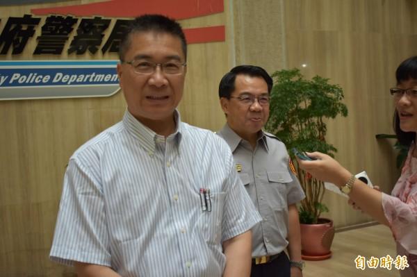 內政部長徐國勇強調,不容黑道假政黨之名,破壞台灣治安選舉。(記者張瑞楨攝)