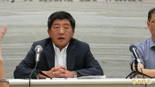 衛福部長陳時中說明衛福部立台北醫院護理之家大火事件。(記者林惠琴攝)