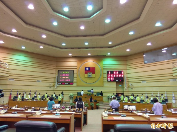 年底多合一選舉登記今截止,共有43人參選嘉義市議員。圖為嘉義市議會開幕情形。(資料照)
