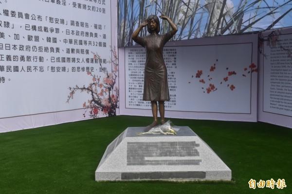 國民黨台南市黨部即將被拍賣,有金主衝著慰安婦銅像,準備搶拍下來,拆掉銅像。(資料照)