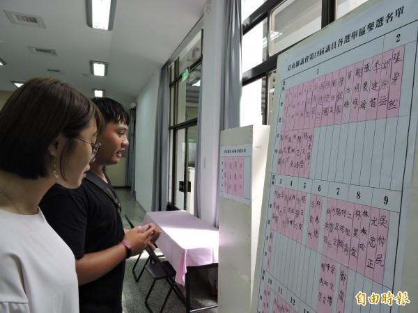 台東縣議員參選爆炸,民眾關心。(記者張存薇攝)