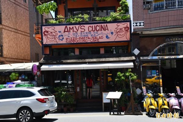 三大20年名店僅剩「AMY'S CUCINA」餐廳苦撐。(記者蔡宗憲攝)