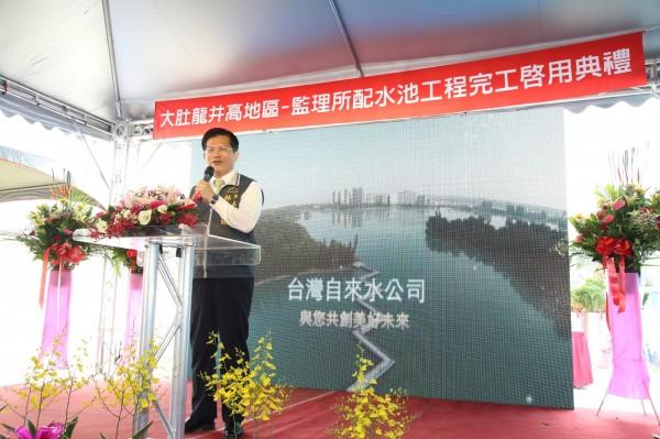 市長林佳龍表示,已組成律師團,對梨山這案子會提告。(記者蘇金鳳攝)