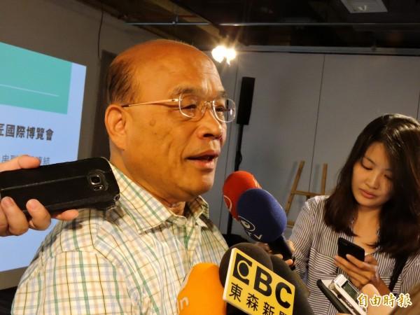 民進黨新北市長參選人蘇貞昌表示,市民對他「會做事」的印象非常深刻。(記者賴筱桐攝)