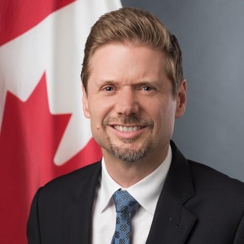 新任加拿大駐台代表芮喬丹(Jordan Reeves)來台就任。(加拿大駐台北貿易辦事處提供)