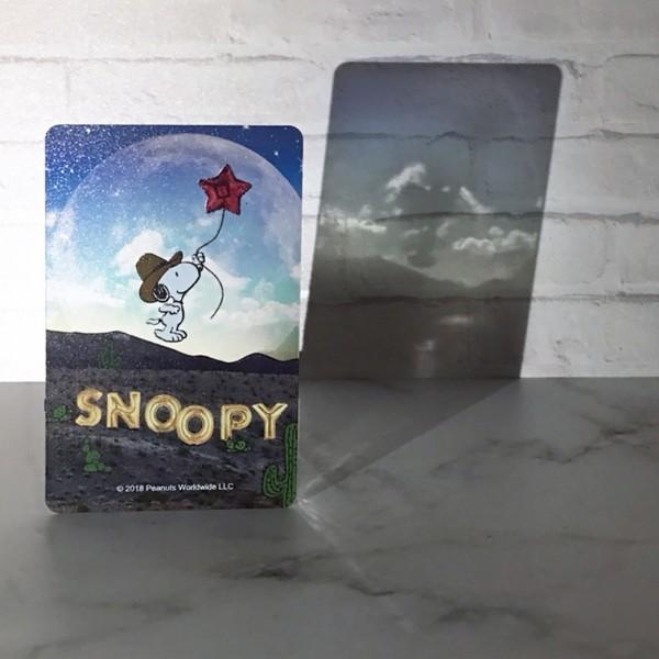 史努比太空系列卡有透明感。(一卡通提供)
