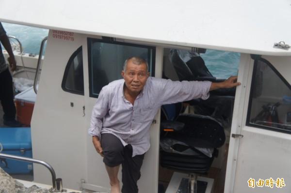 莊姓船長表示南極星號是由山水出港,返程時遇到機械故障失去動力漂流。(記者劉禹慶攝)
