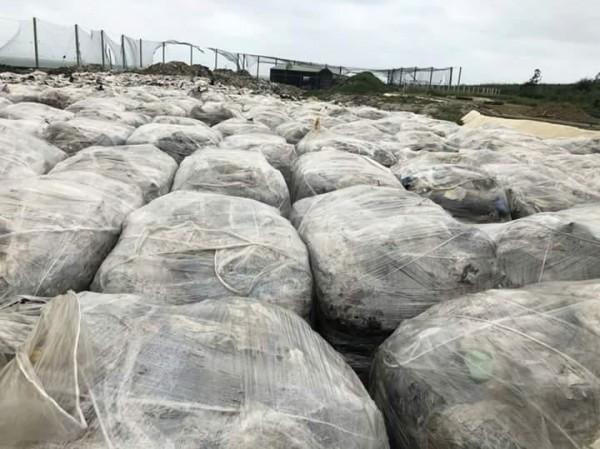 環保署長李應元允諾二個月解決澎湖垃圾問題,現在卻愈積愈多。(楊曜提供)