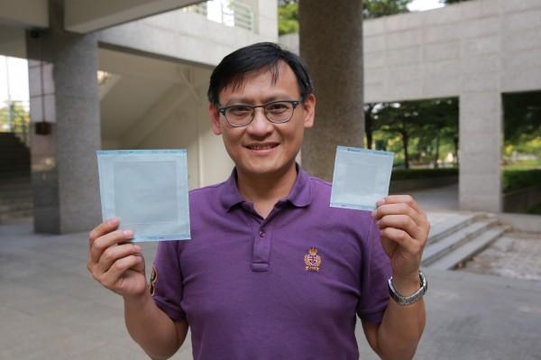高雄大學化材系教授鍾宜璋開發之矽膠貼片技術。(記者蔡清華翻攝)