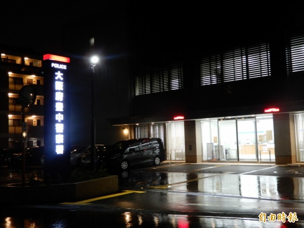 蘇啟誠的大體可能被運送到大阪府豐中警察署。(記者林翠儀攝)