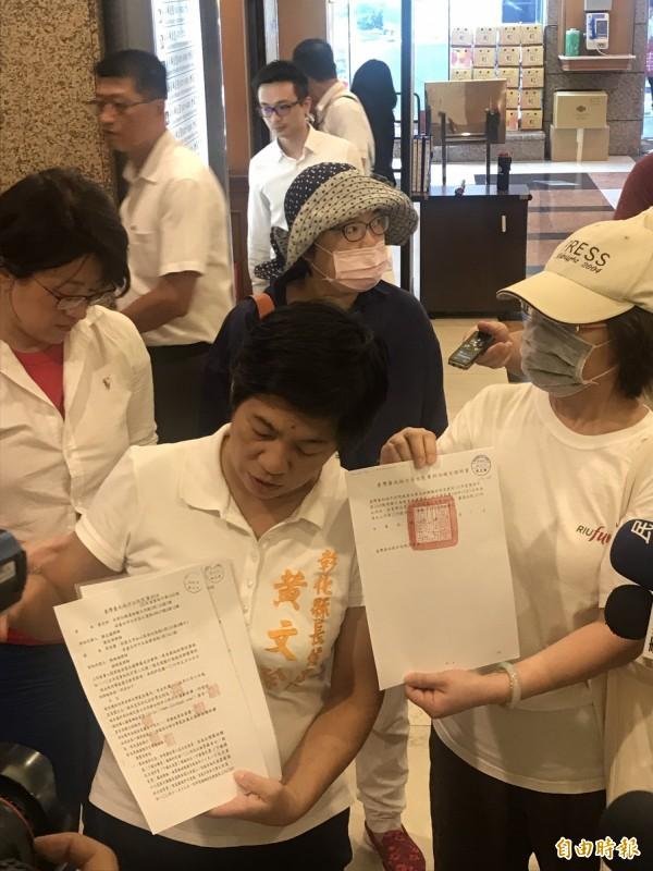 黃文玲今天到立法院找段宜康撲空。(記者蘇芳禾攝)