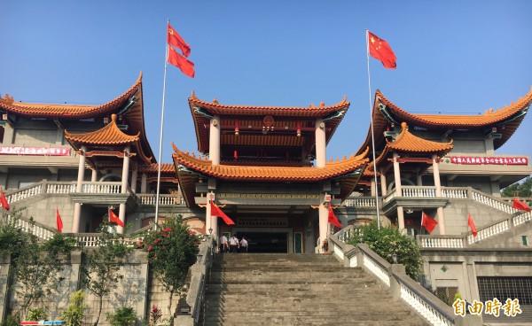 「共産五星寺」一夕成名,但很快被台灣政府盯上。(記者顏宏駿攝)
