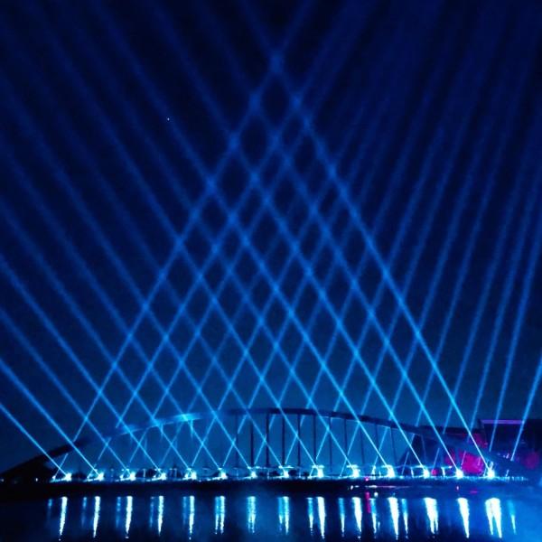 故宮南院從9月26日晚上開始展開光雕秀。(故宮南院提供)