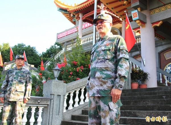 魏明仁26日拆除日升完五星旗後就未現身,外傳恐出境到香港。(記者陳冠備攝)