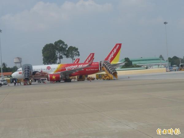 越捷航空將於11月開航台中飛曼谷航線。(記者張軒哲攝)