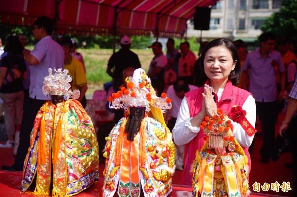 東港三大公廟的主神土地公、溫府千歲及媽祖都邀請到場。(記者陳彥廷攝)