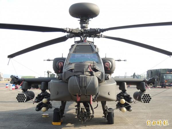 軍方明年將花9億餘萬元將阿帕契裝備送回美國維修。(記者羅添斌攝)