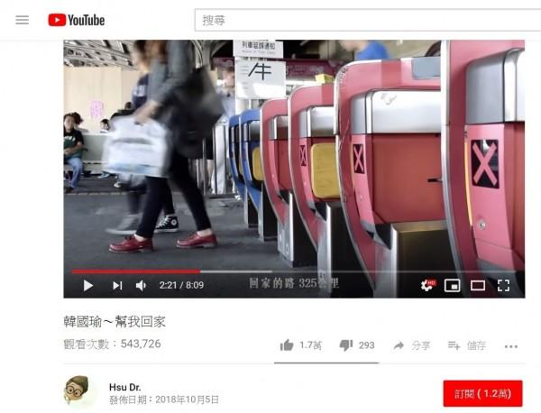 網友自發性替國民黨高雄市長參選人韓國瑜製作競選影片,曝光後部分媒體形容「賺人熱淚」,但創意根本來自抄襲,如大量抄襲成功大學學生會在2014年自製片段,連台詞都原文照念,引發當初製作影片的學生會成員不滿。(取自youtube)
