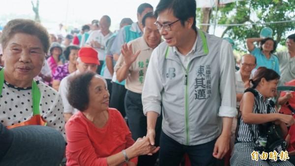 民進黨高雄市長參選人陳其邁。(記者葛祐豪攝)