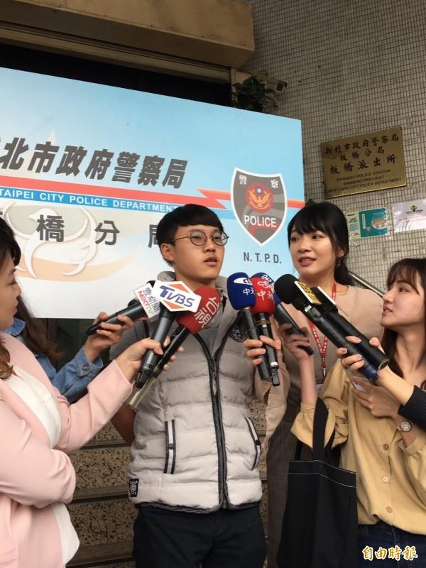 見義勇為的豫章工商餐飲科學生鍾景泰。(記者吳仁捷攝)