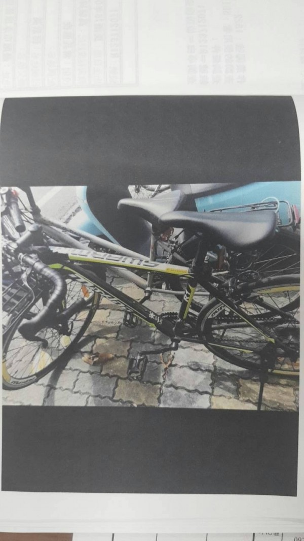 葉姓高中生失竊的腳踏車。(記者王捷翻攝)