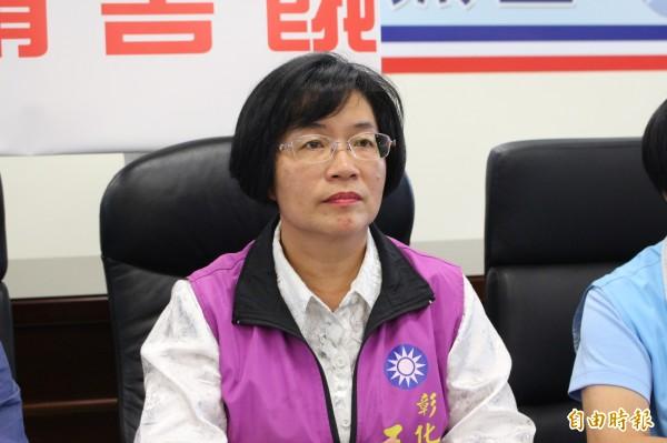 王惠美今天表態承認插旗。(記者張聰秋攝)