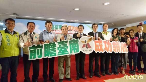 台南市捷運工程處揭牌。(記者劉婉君攝)