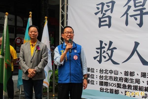 國民黨台北市長候選人丁守中。(記者簡惠茹攝)