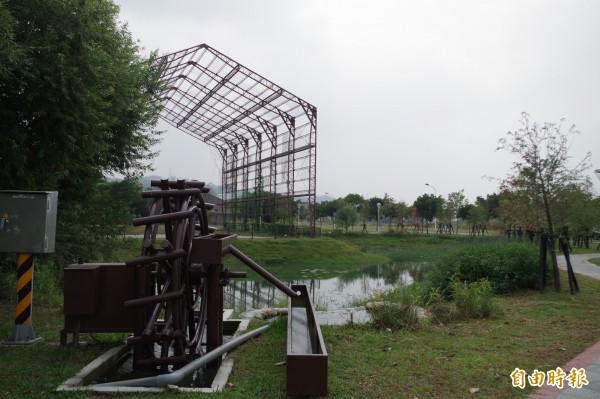 林內寶隆紙廠活化已接近峻工,成為熱門休憩打卡新景點。(記者林國賢攝)
