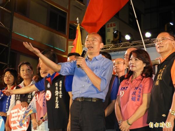 韓國瑜強調高雄市民期待改變。(記者葛祐豪攝)
