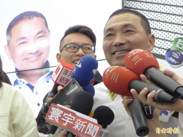 國民黨新北市長候選人侯友宜。(記者李雅雯攝)