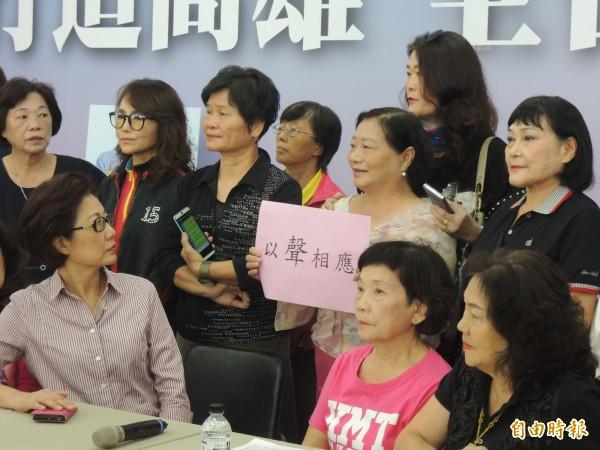 婦女會姊妹強調當天聽得懂韓式幽默與對高雄的用心。(記者王榮祥攝)
