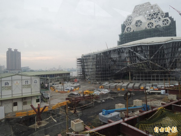 海音中心預定今年底完工,明年底前啟用。(記者王榮祥攝)