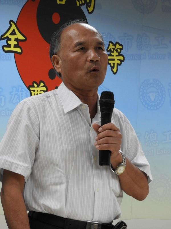 高雄市總工會理事長林明章。(記者葛祐豪攝)