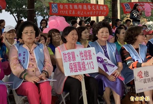 台中市長夫人廖婉如呼籲防家暴、性侵、性騷。(記者蔡淑媛攝)